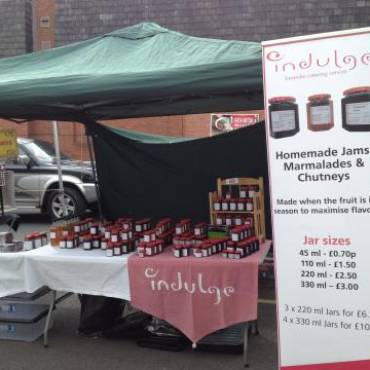 Set up for business at Knutsford Market, 1st May