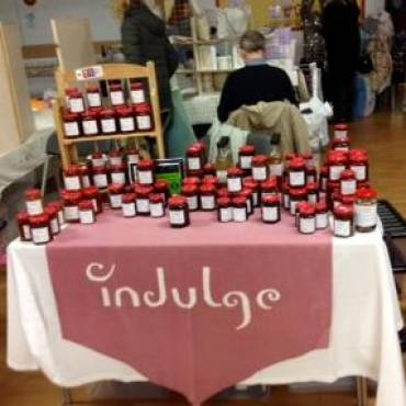 Selling Jams, Marmalades and Chutneys at Ladies Night in Stockton Heath