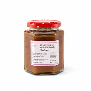 Gingered Fig and Rhubarb Chutney
