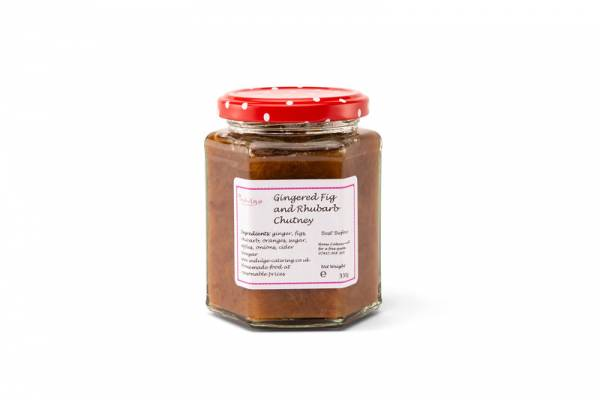 Gingered Fig and Rhubarb Chutney